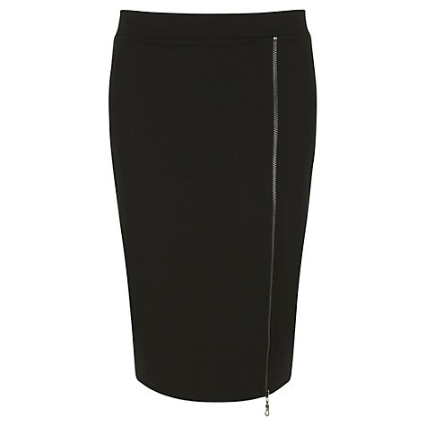 Buy Mint Velvet Zip Pencil Skirt, Black Online at johnlewis.com