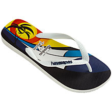 Buy Havaiana Hype Tom Vega Flip Flops, White Online at johnlewis.com