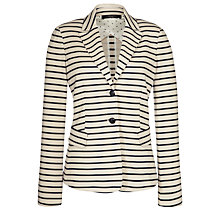 Buy Weekend by MaxMara Striped Jacket, Sand Online at johnlewis.com