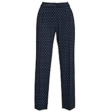 Buy Weekend by MaxMara Star Print Trousers, Navy Online at johnlewis.com