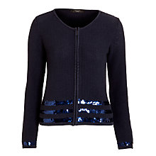 Buy Weekend by MaxMara Knit Sequin Stripe Cardigan, Navy Online at johnlewis.com
