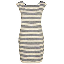 Buy Weekend by MaxMara Sleeveless Textured Stripe Dress, Beige Online at johnlewis.com