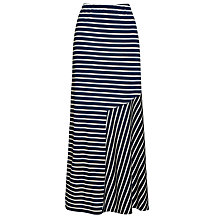 Buy Weekend by MaxMara Stripe Contrast Maxi Skirt, Navy Online at johnlewis.com