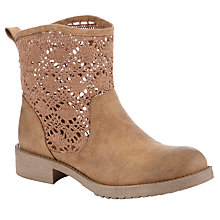 Buy John Lewis Girl Annie Crochet Boots, Brown Online at johnlewis.com