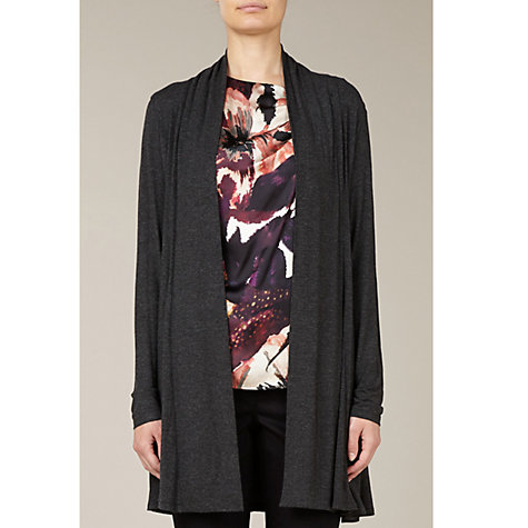 Buy Kaliko Gathered Back Cardigan, Grey Online at johnlewis.com