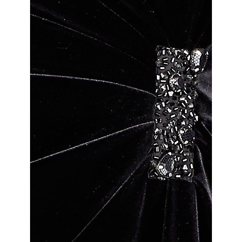 Buy Alexon Velvet Bustier Dress, Black Online at johnlewis.com