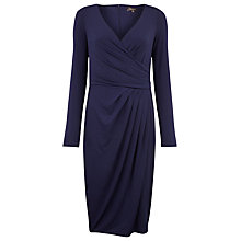 Buy Alexon Crossover Jersey Dress, Twilight Blue Online at johnlewis.com