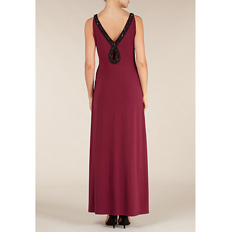 Buy Alexon Jersey Embellished Maxi Dress, Red Online at johnlewis.com