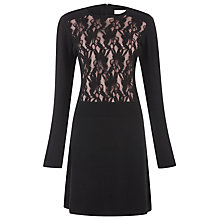 Buy Kaliko Knitted Lace Panel Dress, Black Online at johnlewis.com