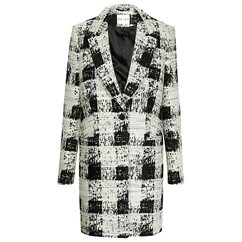 Buy Reiss Soul Check Coat, Black/White Online at johnlewis.com