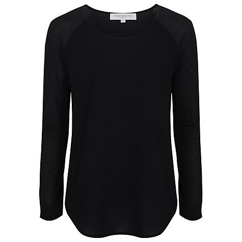 Buy French Connection Classic Polly Long Sleeve T-Shirt, Black Online at johnlewis.com