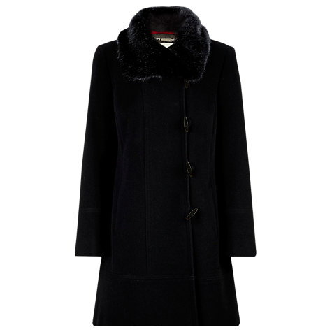 Buy Windsmoor Mid-Length Faux Fur Coat, Black Online at johnlewis.com