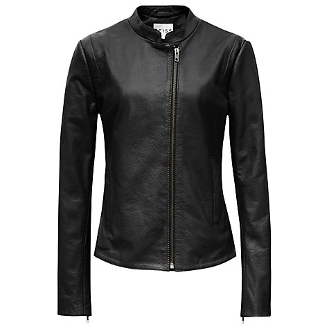 Buy Reiss Sonti Leather Jacket Online at johnlewis.com