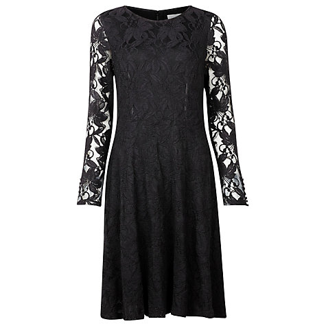 Buy Kaliko Lace Skater Dress, Black Online at johnlewis.com