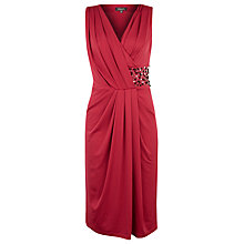 Buy Alexon Embellished Waist Jersey Dress, Red Online at johnlewis.com