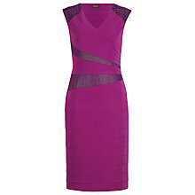 Buy Alexon Bead and Lace Bodycon Dress, Purple Online at johnlewis.com