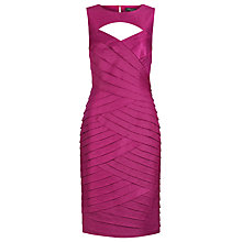 Buy Alexon Shimmer Shutter Dress, Pink Online at johnlewis.com