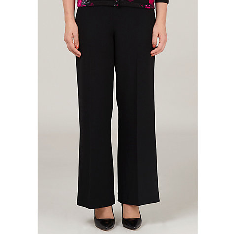 Buy Precis Petite Crepe Trousers, Black Online at johnlewis.com