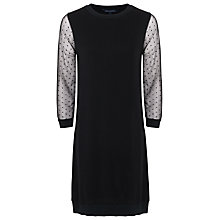 Buy French Connection Dotty Ditton Dress, Black Online at johnlewis.com