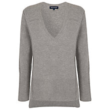 Buy French Connection Vhari Long Sleeve Jumper, Grey Melange Online at johnlewis.com