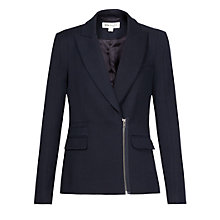 Buy Reiss Tyler Zip Front Jacket, Navy Online at johnlewis.com