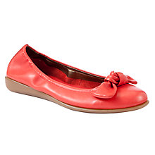 Buy John Lewis Designed for Comfort Peacock Ballerinas, Red Online at johnlewis.com