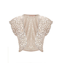 Buy John Lewis Sophia Sequined Shrug, Champagne Online at johnlewis.com
