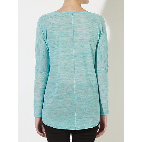 Buy Kin by John Lewis Linen Blended Jumper, Caribbean Sea Online at johnlewis.com