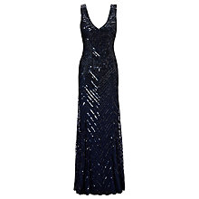 Buy John Lewis Sidney Sequined Dress, Navy Online at johnlewis.com