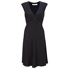 Buy COLLECTION by John Lewis Adelais Spotted Dress, Navy/Maize Online at johnlewis.com