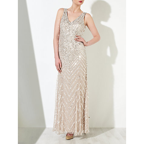 Buy John Lewis Sidney Sequined Dress, Champagne Online at johnlewis.com