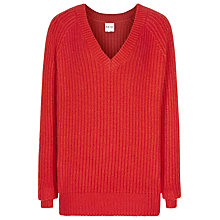Buy Reiss Willaston V-Neck Jumper, Red Online at johnlewis.com