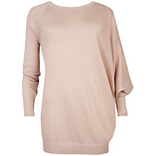 Buy Ted Baker Esadora Asymmetric Sleeve Jumper, Nude Pink Online at johnlewis.com