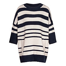 Buy Reiss Luella Striped Chunky Jumper Online at johnlewis.com