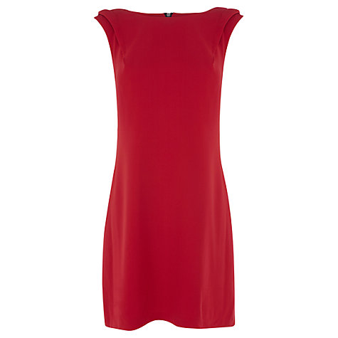 Buy Warehouse Extended Shoulder Dress, Bright Red Online at johnlewis.com