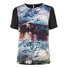 Buy Warehouse Landscape Print T-Shirt, Multi Online at johnlewis.com