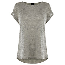 Buy Warehouse Stud Metallic T-Shirt, Metallic Online at johnlewis.com