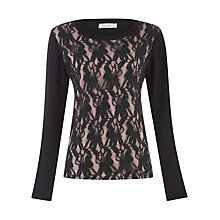Buy Kaliko Black Lace Detail Top, Black Online at johnlewis.com