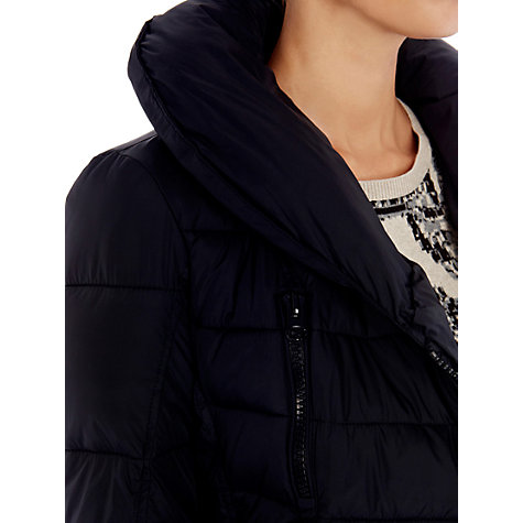 Buy Warehouse Mock Down Filled Parka Coat, Black Online at johnlewis.com