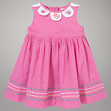 Buy John Lewis Baby Ladybird Collar Dress, Pink Online at johnlewis.com