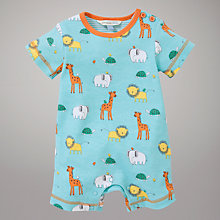 Buy John Lewis Baby Safari Print Romper, Green Online at johnlewis.com