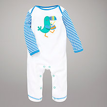 Buy John Lewis Baby Toucan Sleepsuit, White Online at johnlewis.com