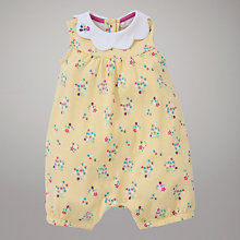 Buy John Lewis Baby Floral Print Romper, Yellow Online at johnlewis.com