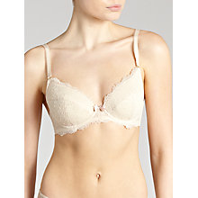 Buy John Lewis Genevieve Plunge Bra, Cream Online at johnlewis.com