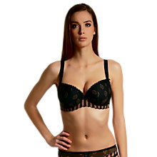 Buy Freya Fan-tastic Underwire Padded Half-Cup Bra, Black Online at johnlewis.com