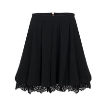 Buy French Connection Kelby Lace Skirt, Black Online at johnlewis.com