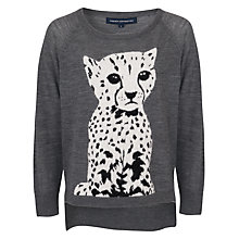 Buy French Connection Leopard Melange Knit Jumper, Medium Grey Melange Online at johnlewis.com