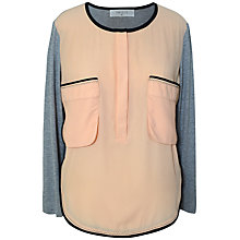 Buy Paisie Two Tone Pocket Blouse, Multi Online at johnlewis.com