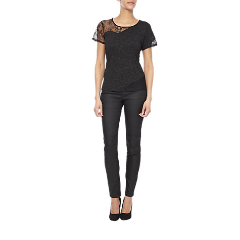 Buy French Connection Metallic Lace Top Online at johnlewis.com