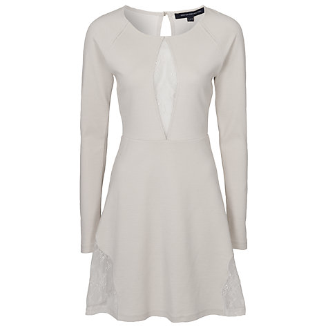 Buy French Connection Lace Jersey Flared Dress Online at johnlewis.com
